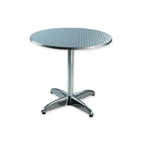 Round aluminium table for hire from Barny Lee Marquees