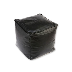 black cube seat or stool