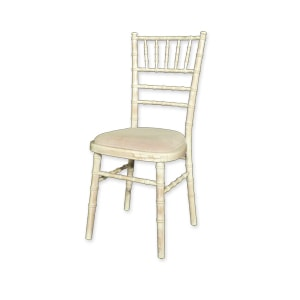 Chivari Ivory chair for hire fr wedding and events at Barny Lee Marquees
