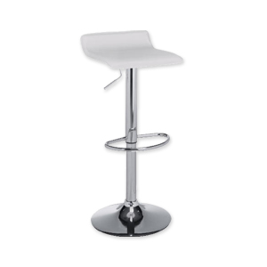 Chrome and shite bar stool for hire from Barny Lee Marquees wedding hire furniture