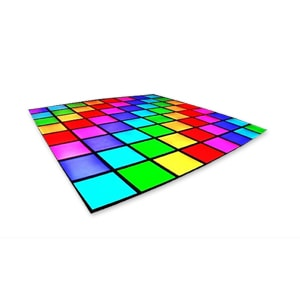 LED Disco dance floor with changing coloured lights for hire