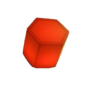 LED hexagon plinth