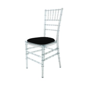 Ice Chair for hire for events made from clear polyresin