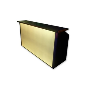 Cocktail bar with LED facia for hire