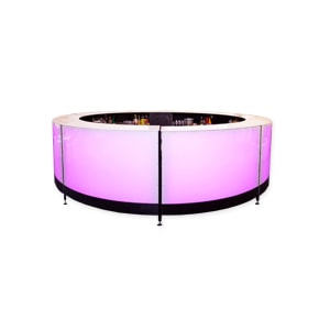 Circular and half circle LED cocktail bar for hire