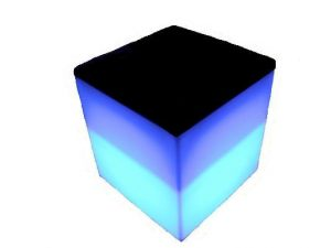 LED cube stool or side table for hire