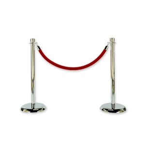 Red stanchion rope for cordoning off areas at events