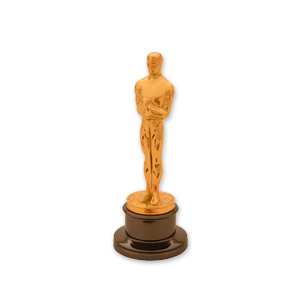 An Oscar statue representing props and party hire accessories available from Barny Lee Marquees