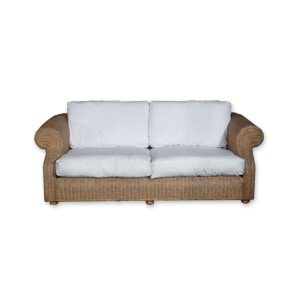 Wicker sofa for hire for parties