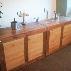 Wooden bar for hire