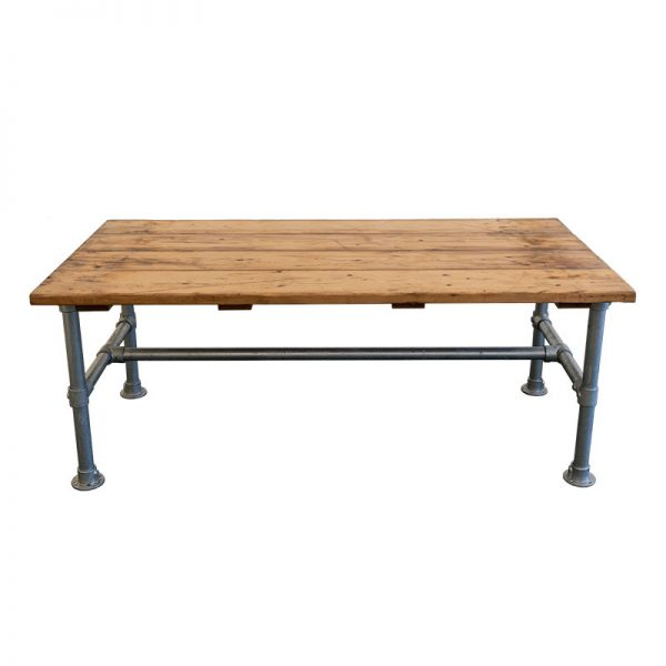 Rustic Pipe and Wood Table