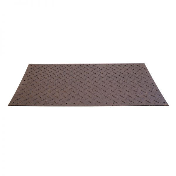 Black rubber vehicle track matting available to hire at Barny Lee Marquees