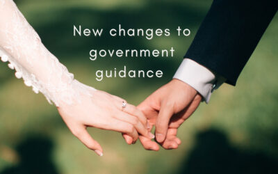 New Changes to Government Guidance for Weddings – September 2020